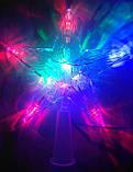 Светящаяся верхушка Звезда на елку размер 15*15 см, фото 4