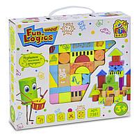 Деревянный конструктор Fun Game, 33 элемента, игра логика, развивающий конструктор