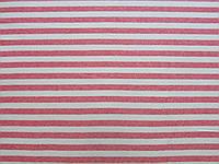 Ткань Трикотаж Stella Ricci плательная (хлопок 80% лен-20%) 1.45 м бело-розовые полосы АРТ. 171/BO44