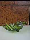 Фруктовниця листок скляна зелена, фото 3
