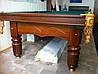Більярдний стіл Клубний розмір 12 футів Ардезія з шкіряними лузами з натурального дерева, фото 4