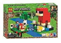 "Конструктор Bela (Lari) 11361 Minecraft ""Шерстяная ферма"", 266 детали. Аналог Лего Майнкрафт 21153"