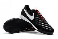 Футзалки (бампы) Nike Tiempo Legend VII Academy IC Black/Pure Platinum/Light Crimson, фото 1