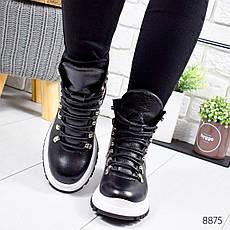 """Ботинки женские зимние, черного цвета из натуральной кожи """"8875"""". Черевики жіночі. Ботинки теплые, фото 3"""
