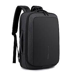 """Деловой рюкзак-трансформер Bange BG-K81, с USB портом, двумя отделениями, для ноутбука до 17"""", 25л"""