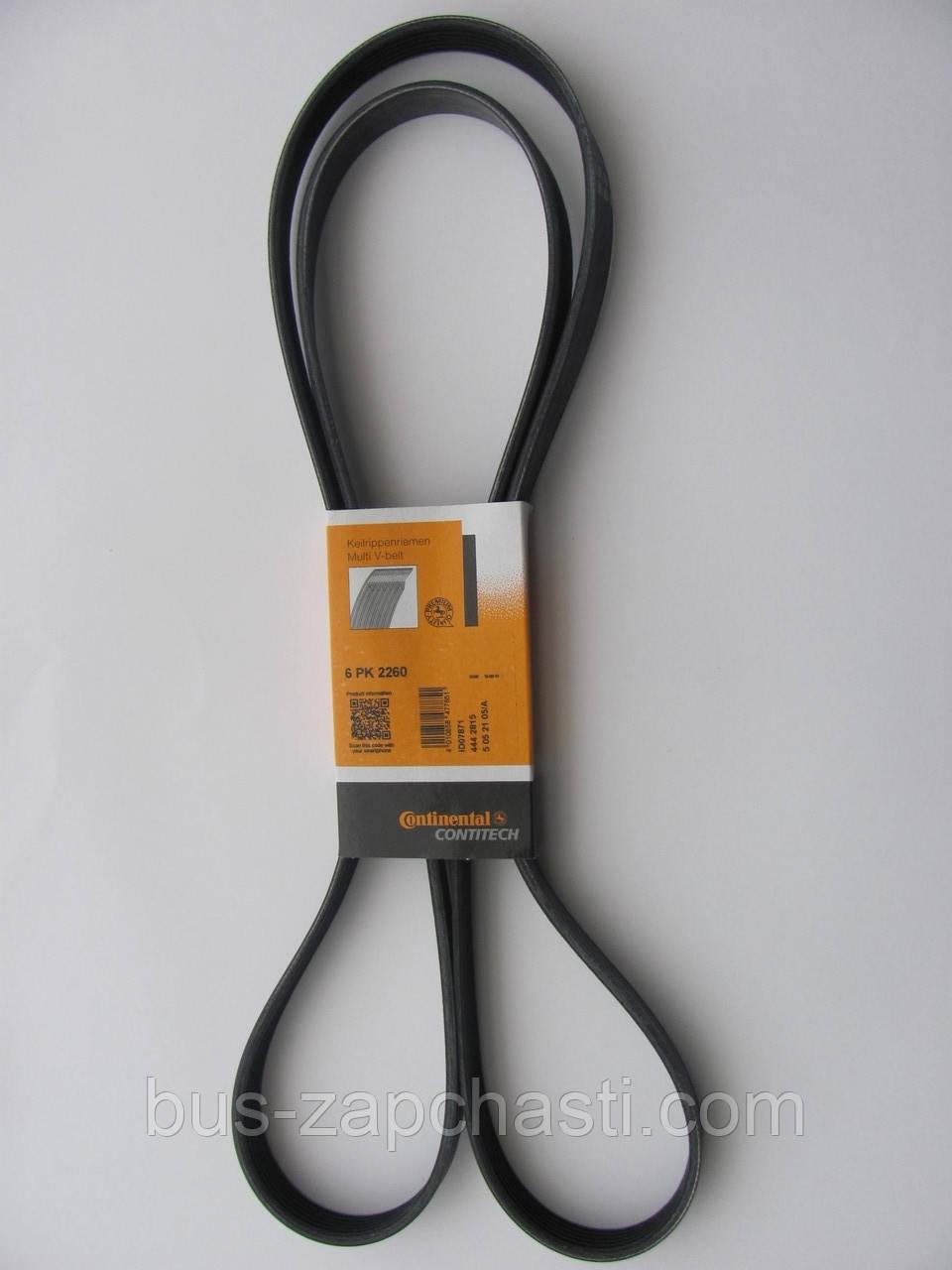 Ремень ручейковый на MB Sprinter  906 2006→, Vito 639 2.2 CDI 2003→ — Contitech (Германия) — 6PK2260