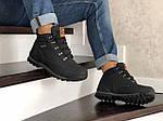 Мужские ботинки Timberland (черно-оранжевые) ЗИМА, фото 4