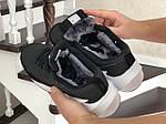 Мужские кроссовки Adidas Sharks (черно-белые) Зима, фото 4