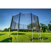 Большой батут Just Fun 374 см. Сетка и лестница (B-JF374), фото 2