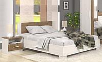 Кровать с тумбами Маркос 180х200 андерсен + дуб април (с ламелями) Мебель Сервис