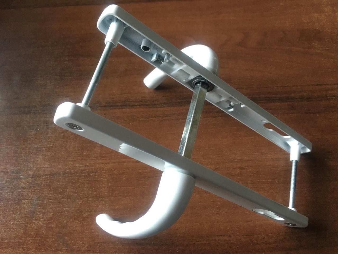 Нажимной гарнитур для металлопластиковой двери WinX 92/25/235/210 мм 2 винта с пружиной