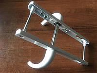 Нажимной гарнитур для металлопластиковой двери 92/25/235/210 мм., 2 винта, с пружиной