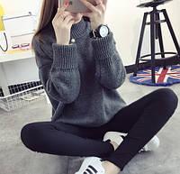 Женский стильный теплый свитер