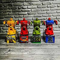 Музыкальная, светящаяся машинка трансформер (Молния Маккуин, Бамблби, Халк, капитан Америка), фото 1