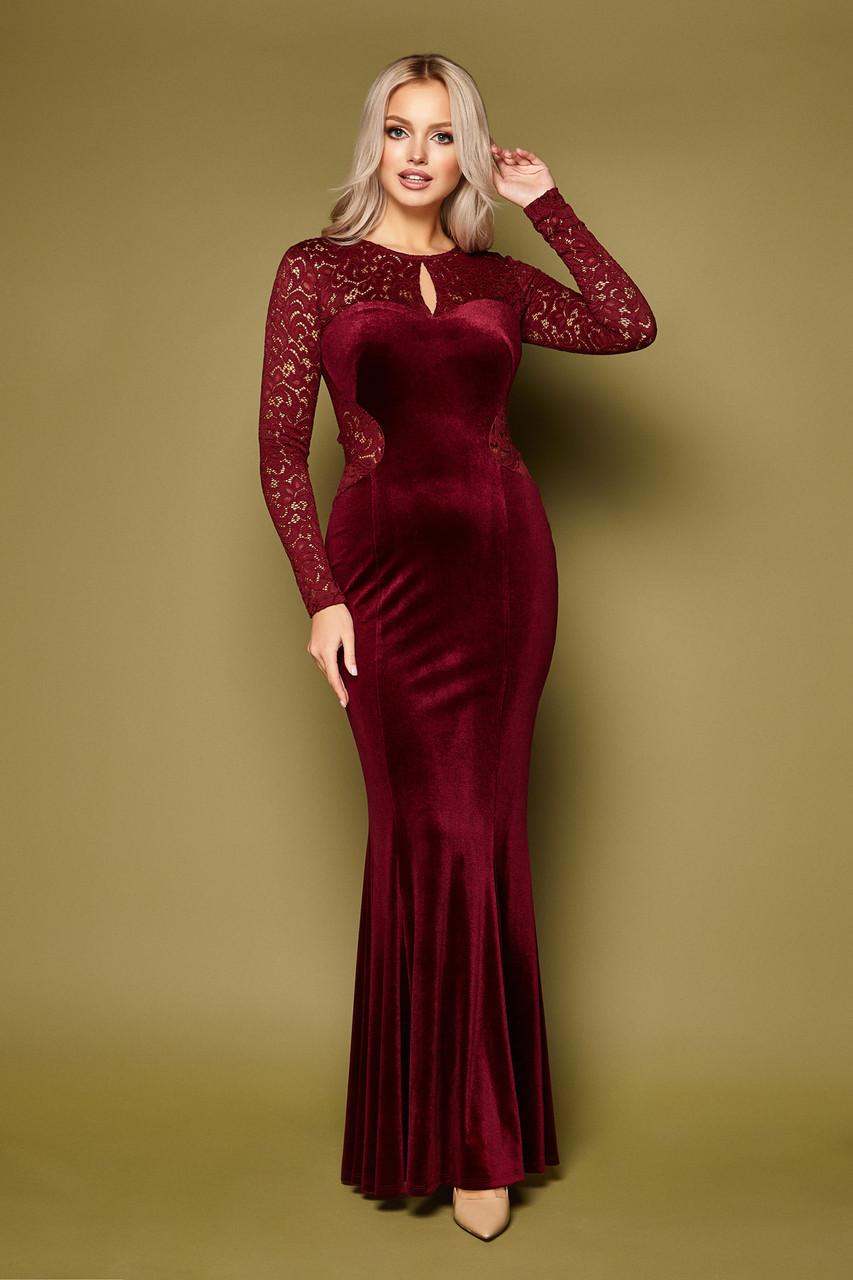 Вечернее облегающее платье в пол с открытой спиной