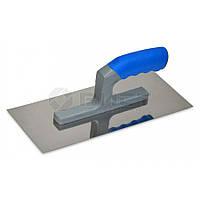 Гладилка стальная с нержавеющим покрытием пластмассовая ручка 120х280мм зуб10х10мм