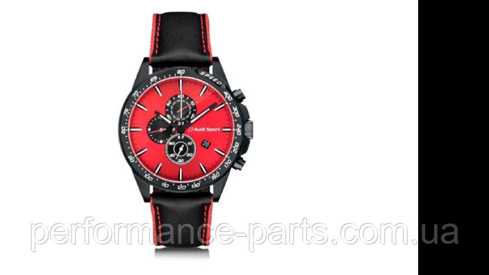 Мужские наручные часы хронограф Audi Sport Chronograph, Mens, black/red 3101900400