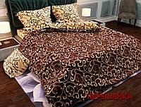 """Двуспальный набор постельного белья 180*220 из Бязи """"Gold"""" №152100AB Черешенка™"""