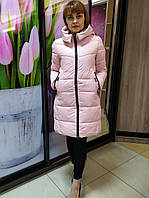 Женская зимняя курта, пудра, фото 1