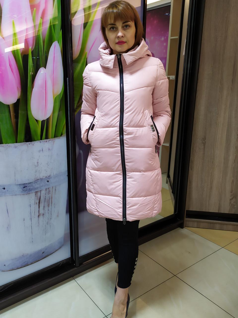 Женская зимняя курта, пудра