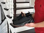 Мужские кроссовки Adidas Sharks (черно-оранжевые) Зима, фото 2