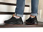 Мужские кроссовки Adidas Sharks (черно-оранжевые) Зима, фото 4