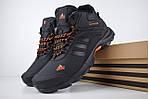 Мужские зимние кроссовки Adidas Climaproof (черно-оранжевые), фото 3