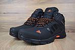 Мужские зимние кроссовки Adidas Climaproof (черно-оранжевые), фото 5