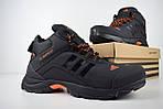 Мужские зимние кроссовки Adidas Climaproof (черно-оранжевые), фото 7
