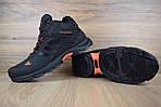Мужские зимние кроссовки Adidas Climaproof (черно-оранжевые), фото 8