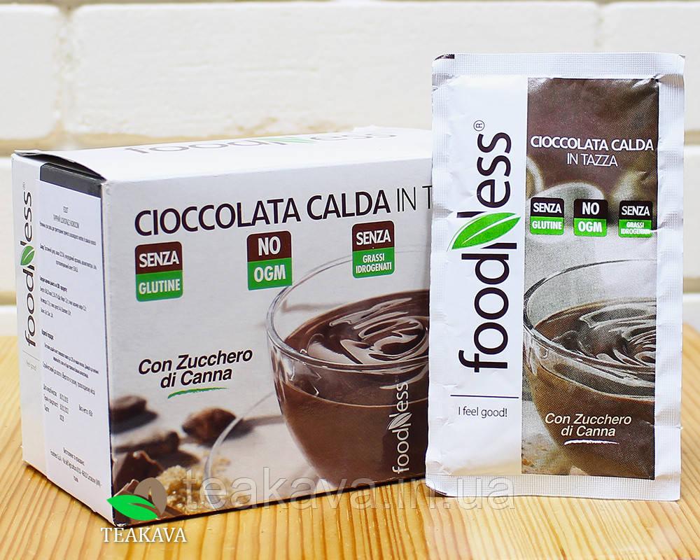 """Гарячий шоколад без глютену """"М'ята"""" Foodness (30г*15шт), 450 грам (Італія)"""