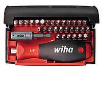Биты набор 32 штуки c многокомпонентной магнитной ручкой и магнитным держателем бит Wiha 34686, фото 1