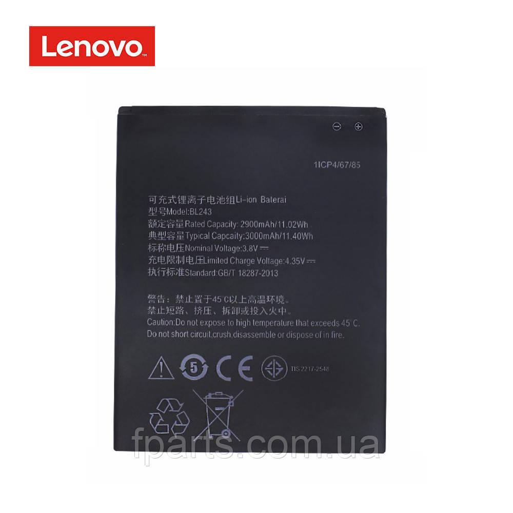 Аккумулятор BL243 Lenovo A7000, K50-T5, K3 Note
