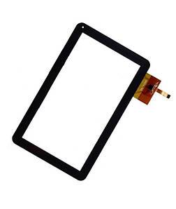 Сенсор (Тачскрин) для планшета GoClever Tab A104   A104.2   R104 (256*159 мм) 12pin (Черный) Оригинал Китай