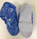 Многоразовые бахилы с молнией и шнурками, чехлы на обувь непромокаемые от дождя, Драйстепперы, фото 4