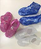 Многоразовые бахилы с молнией и шнурками, чехлы на обувь непромокаемые от дождя, Драйстепперы, фото 5