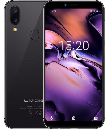 "Смартфон Umidigi A3 2/16Gb Black, 12+5/8Мп, 4 ядра, 2sim, экран 5.5"" IPS, 3300mAh, GPS, 4G"