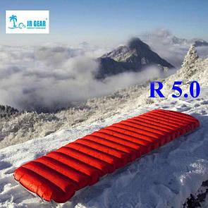 Одноместный надувной матрас JR GEAR (прямоугольный). Туристический коврик (зимний) Туристичний матрац.
