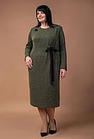 Шикарное трикотажное платье миди для пышных Мэй, фото 1