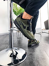 Мужские зимние кроссовки Nike Air Max Mid Winter (зеленые)