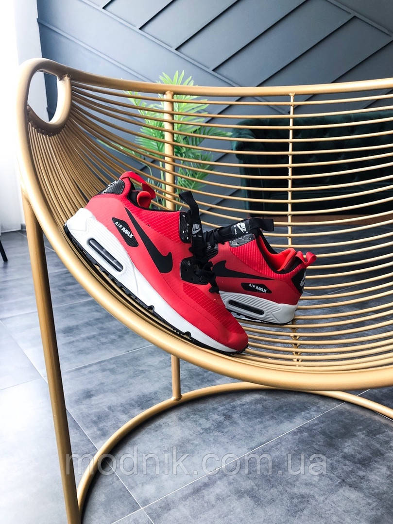Мужские зимние кроссовки Nike Air Max Mid Winter (красные)