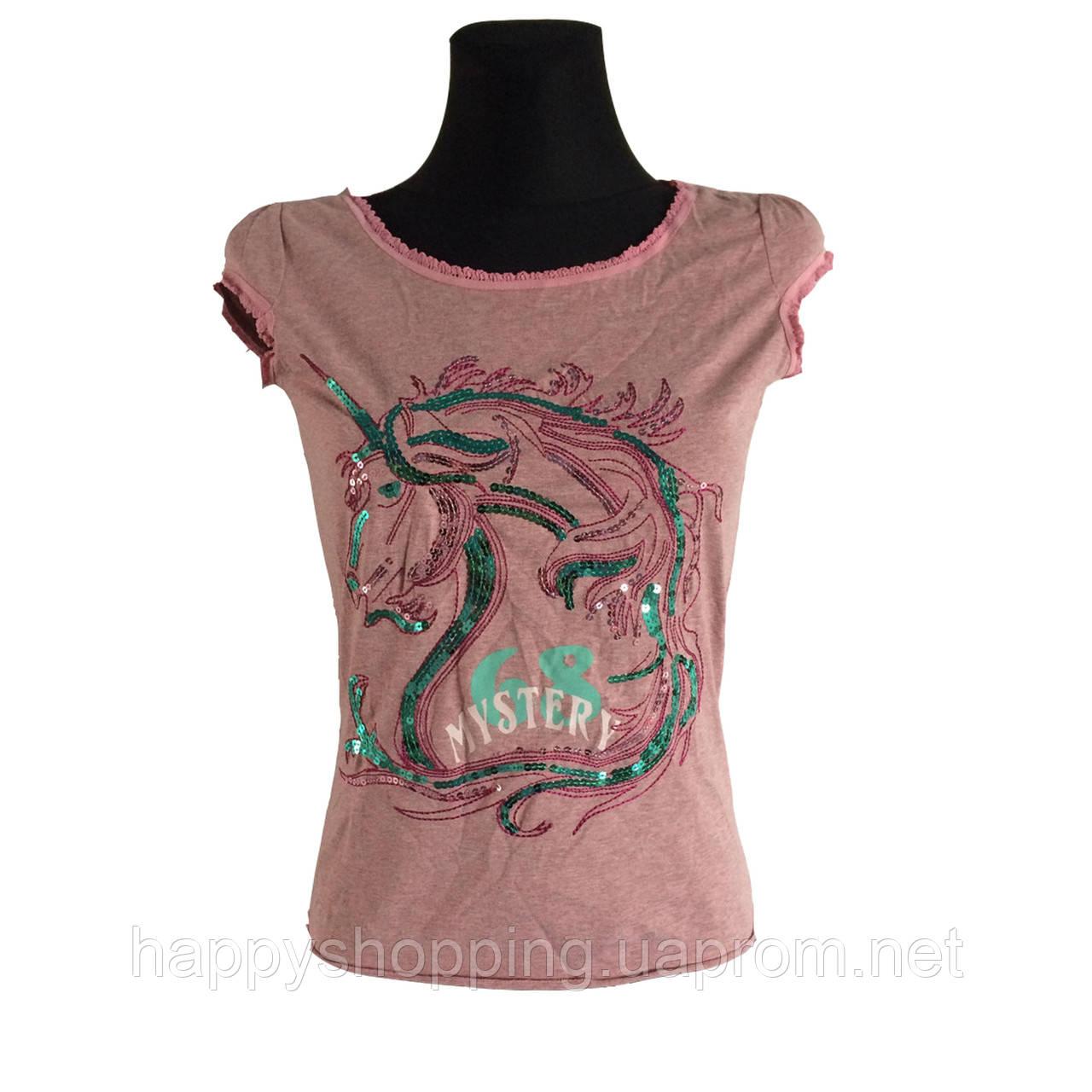 Розовая футболка MEXX