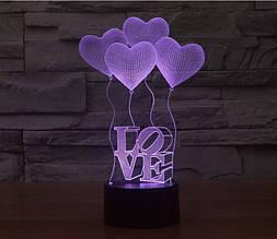 3D светильник-ночник Марихуана