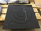 """Плита металлическая под казан 550""""550 мм д.400 м вес 25 кг (под размеры)"""