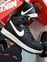 Мужские зимние кроссовки Nike Air Force Lunar Black/White