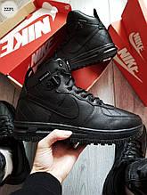 Мужские зимние кроссовки Nike Air Force Lunar Black