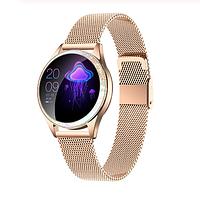 KingWear KW20 женские смарт часы с тонометром - Золотой с металлическим ремешком, фото 1