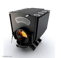 """Печь булерьян c варочной поверхностью """"Новослав"""" VANCOUVER LUX (стекло) 11 кВт - 260 М3 Тип-01"""