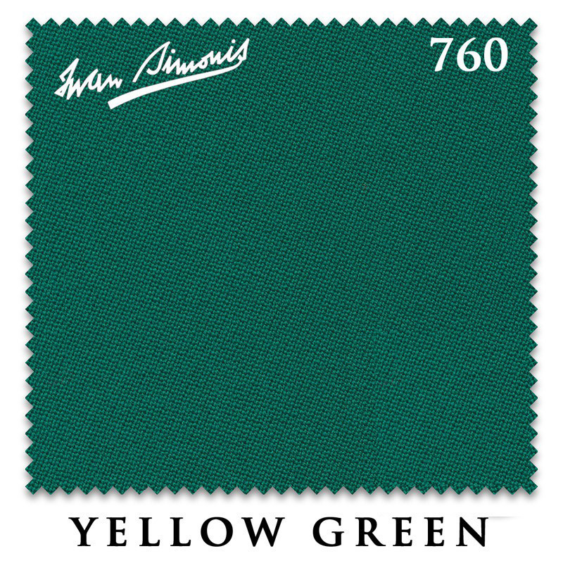 Сукно Simonis-760 Yellow Green для бильярдного стола