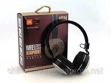 JBL KD24 бездротові Bluetooth-навушники репліка, чорні з сріблом.